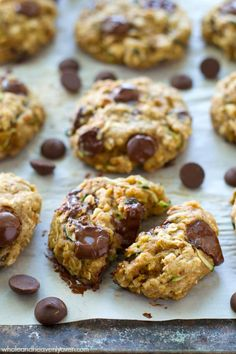 Jam-packed with all kinds of heart-healthy goodness, sneaky zucchini, and tons of gooey chocolate, these soft 'n' chewy breakfast cookies are the best way to start the day!