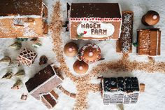 I am definitely going to do this!!!  How to Build a Gingerbread Farm, Part 1 on Food52