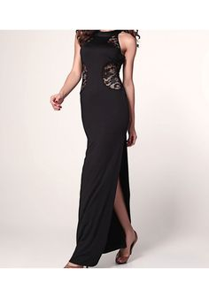Lace Cut-out Slits Maxi Sexy Gown |Dress
