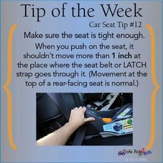 """Less than 1"""" of movement at the belt path when installing a car seat."""