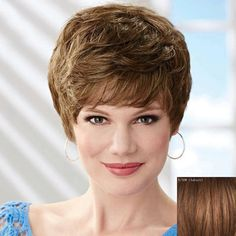 Women's Trendy Fluffy Short Human Hair Wig