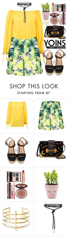 """""""Yoins"""" by oshint ❤ liked on Polyvore featuring Prada, Charlotte Tilbury, New Look, BauXo, yoins, yoinscollection and loveyoins"""