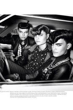 """Rock This Town"" by Thierry Le Gouès for French Revue De Modes Fall 2010 via Fashion Gone Rogue. I want a bad-ass fucking pomp so bad Teddy Girl, Teddy Boys, Teddy Boy Style, Teddy Boy Hair, Dandy, Betty And Veronica, Tough Girl, Psychobilly, Androgyny"