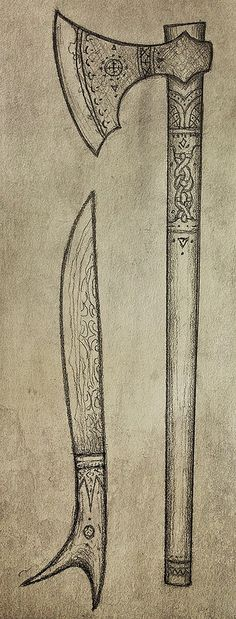Aiglion's Axe | by Cedarlore Forge