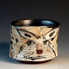 Crimson Laurel Gallery Ron  Meyers Bowl with Rabbit http://www.crimsonlaurelgallery.com/Artist-Detail.cfm?ArtistsID=1080
