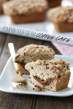 Pumpkin-Sour Cream Coffee Cake