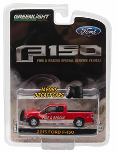 1:64 Greenlight *HOBBY EXCLUSIVE* 2015 FORD F-150 *FIRE & RESCUE* NICS #GreenLight #Ford