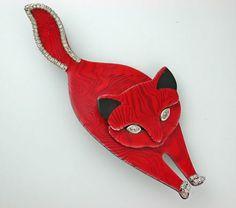 Lea Stein cat brooch