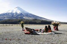 Date in Cotopaxi Volcano, Andes Montains. Ecuador.