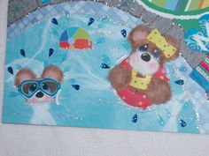 Tear Bear Summer Girl Boy Pool Vacation by kariskraftkorner3301