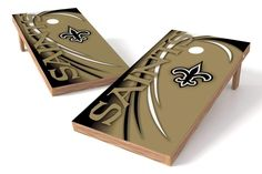 New Orleans Saints 2x4 Cornhole Board Set - Spiral