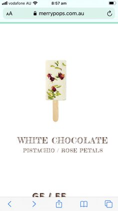 Ice Pops, Pistachio, White Chocolate, Merry, Rose, Popsicles, Pistachios, Pink, Ice Candy