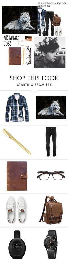 """Miss Peregrine's home for peculiar children oc"" by thelovelye ❤ liked on Polyvore featuring Alexander McQueen, Rear View Prints, EyeBuyDirect.com, Berluti, Calvin Klein, Lauren Wolf, men's fashion and menswear"