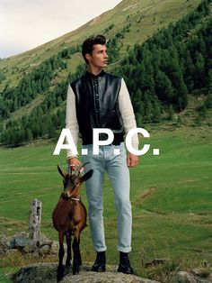 A.P.C. spring 2014 collection. Adrien Sahores shot by Walter Pfeiffer.