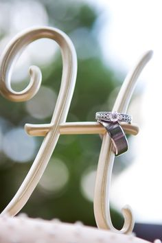 """Love this ring shot with the """"new last letter inital"""""""