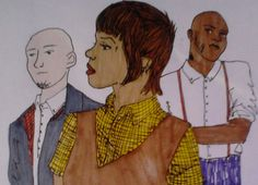 """""""Skinheads against racial prejudice"""" This is my drawing for the fanzine created by a friend of mine."""