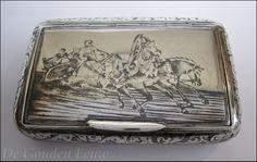 Russisch zilveren tabaksdoosje, 19e-Eeuw. - 'De Gouden Eeuw'