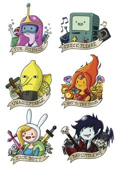 Adventure Time stickers...: