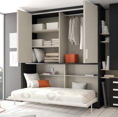 Cama abatible Touch con armario de puertas plegables._product_product_product_product
