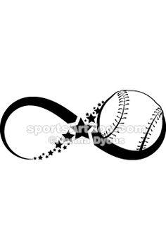 Softball or Baseball Infinity by Sports Art Zoo