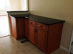 kck kitchen cabinets - sienna rope island with undermount island
