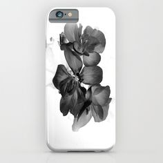 Black Geranium in White iPhone & iPod Case by ARTbyJWP - $35.00