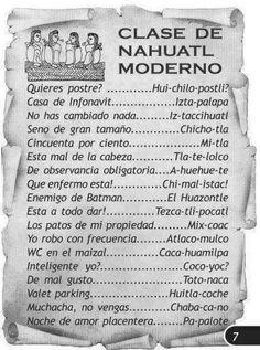 Clase Gratuita de Nahuatl Aprendan Pipiles y Aztecas.