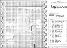 LIGHTHOUSE cross stitch chart.  Gallery.ru / Фото #3 - Маяк - DELERJE