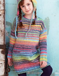 Maandag Katia Azteca Milrayas trui en of muts Knitting For Kids, Crochet For Kids, Baby Knitting, Baby Sweaters, Girls Sweaters, Sweaters For Women, Crochet Baby Pants, Knit Crochet, Girls Knitted Dress