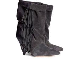 Isabel Marant Fringe Ankle Bootie