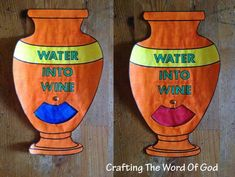 """This craft is an illustration of Christ's first recorded miracle. 7 Jesus said. - This craft is an illustration of Christ's first recorded miracle. 7 Jesus said to them, """"Fill th - Jesus Crafts, Bible Story Crafts, Bible School Crafts, Bible Crafts For Kids, Bible Lessons For Kids, Preschool Crafts, Sunday School Activities, Bible Activities, Sunday School Lessons"""