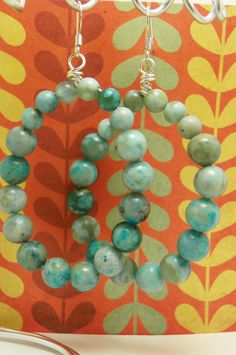 Turquoise Beaded Earrings by byTAlyse on Etsy, $10.00