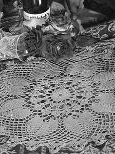 """This lovely doily measures 20"""" in diameter and is crocheted with size 10 cotton with a size 7 steel crochet hook.Skill Level: Intermediate"""