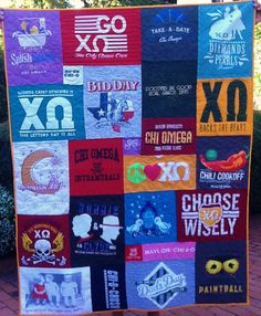 Baylor University-Chi Omega t-shirt quilt  www.Gotquiltz.com call so we can get started on Yours TODAY
