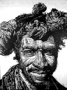 woodcut printmaking faces - Google Search