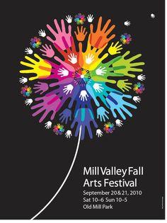 Graphic Design: Poster Designs by Michael Osborne Layout Design, Design Art, Web Design, Design Basics, Festival Posters, Art Festival, Festival Flyer, Graphic Pattern, Dandelion Art