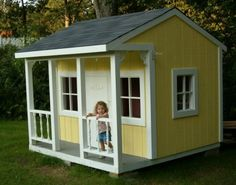 kids outdoor playhouse plans