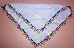 Shopping my Stash: Off the Shuttle: Tatted Floral Edging on Vintage Handkerchief