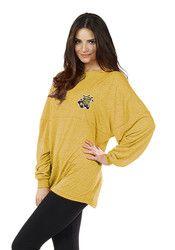 WSU Womens Floral Gold LS Tee