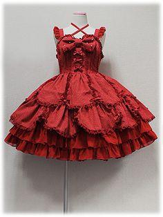 angelic pretty スカラップDot Ribbon Dollジャンパースカート