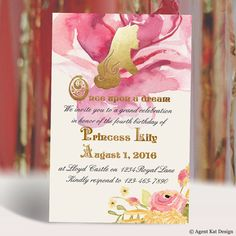Princess Aurora Sleeping Beauty Birthday Invitation by agentkat