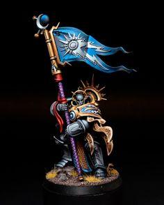 Age of Sigmar | Stormcast Eternals | Knight Vexillor #warhammer #ageofsigmar…