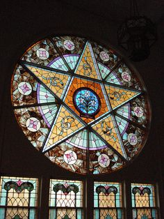 Very cool!!!  Pentacle Window by c shultz, via Flickr