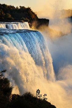 The American Falls, as seen from Niagara Falls, New York. I was there in 1989 and it was breathtaking!