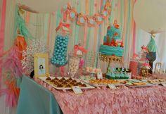 {Mermaid Tails Birthday} | CatchMyParty.com