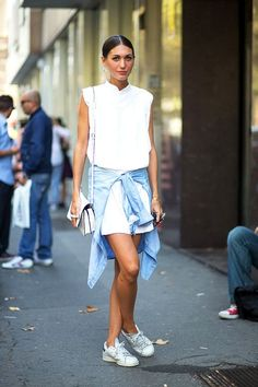 Street Style: A Casual Cool Take On The Shirtdress For Summer