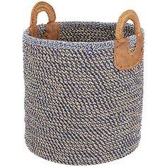 Buy Nkuku Indra Coil Jute Cotton & Leather Basket Online at johnlewis.com