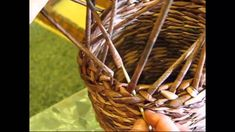 Newspaper basket. How to make the edging. Part  6.