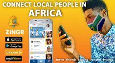 Meet friends in Africa - ZINGR social app Short Messages, Meet Friends, You Videos, Africa, Dating, Shit Happens, City, Quotes, Cities