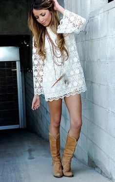 Lace and boots!
